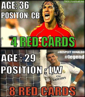 Cristiano Ronaldo vs Puyol ...