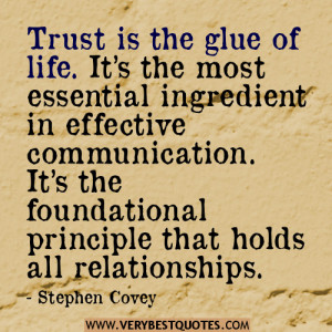 relationship quotes, trust quotes, stephen Covey Quotes