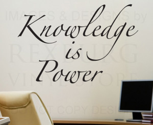 ... -Quote-Sticker-Vinyl-Art-Lettering-Decorative-Knowledge-is-Power-I06