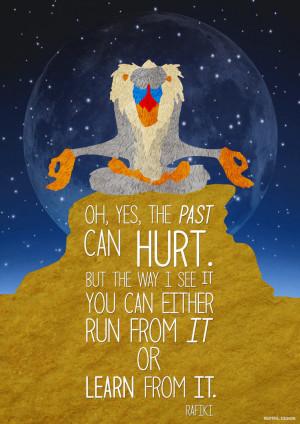 Lion King - Rafiki Quote Poster by JC-790514