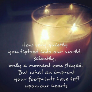 Pregnancy and infant loss remembrance day quote www.bitsofsweetness ...