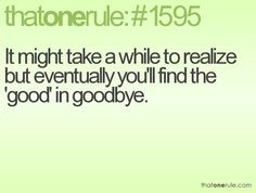 AGREED 100%!!!!! I'm finally over you and ready to move on for me I ...