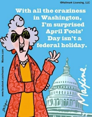Maxine on April Fools' Day
