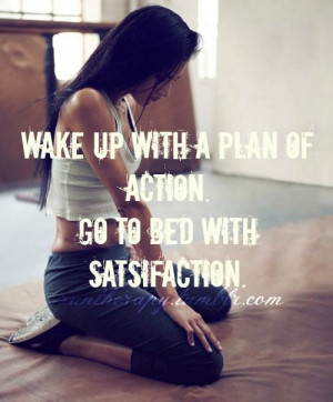 wake up with a plan