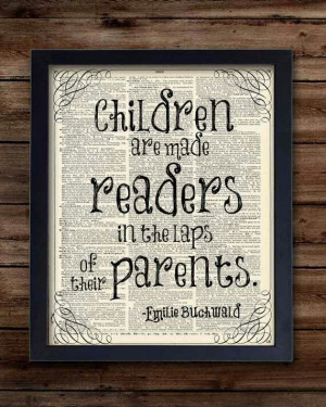 Read to your kids, even in the womb