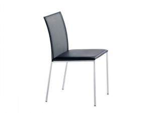 Sedia impilabile in pelle MILANO FLAIR | Sedia - Brunner
