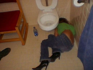 Here's an awesome gallery of girls who thought they could hang but ...
