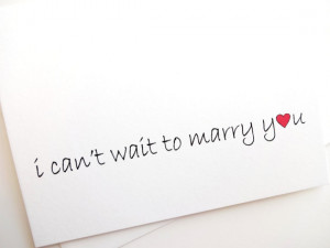 can't wait to marry you card - Wedding - Groom