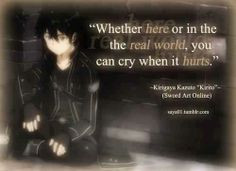 quote from kirito in sword art online more animal manga swords art ...
