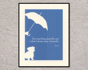 Quotes About Rain | Rainy Day Dog Poster With Winnie The Pooh Quote ...