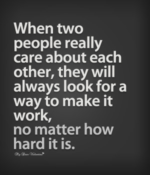 When Two People Care About Each Other