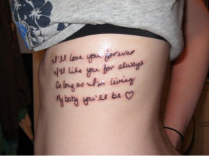 Very Short Tattoo Love Quotes for Her