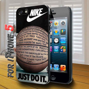 Nike Just Do It Quote Basketball Black Case: Crafts Ideas, Basketb ...
