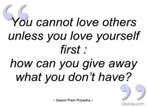 love others as you love yourself