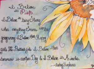 Sunflower - Audrey Hepburn quote
