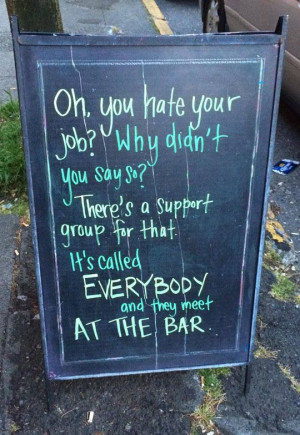 11 Funny Chalkboard Signs That Convinced Me to Drink