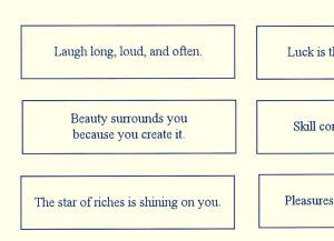Printable Fortune Cookie Sayings