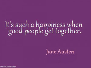 It's such a happiness when good people get together.