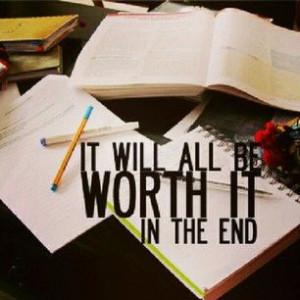 motivation .. study on a Sunday. one sentence .. many to go!
