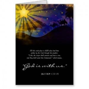 Three Wise Men Bible Verse Christmas Card card