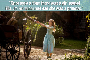 """Narrator: """"Once upon a time there was a girl named Ella…to her mom ..."""