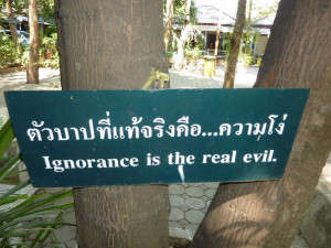 Ignorance is the real evil