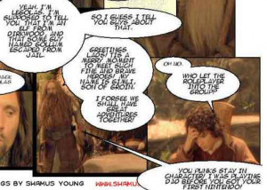 """DM of the Rings """" is a wonderfully comic rework of Lord of the Rings ..."""