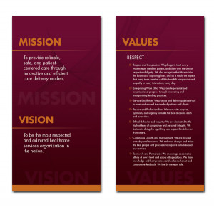 mission vision values examples
