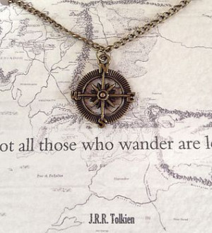 Lord Of The Rings Compass Necklace