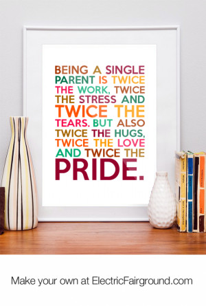 Quotes About Being A Single Mom Being a single parent