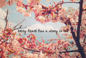 ... pretty tree quote heart flowers cherry blossom weheartit story saying