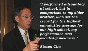 Steven chu famous quotes 4