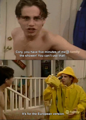 Go Back > Gallery For > Shawn Hunter Boy Meets World Quotes