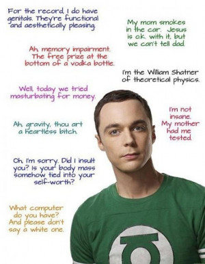 Funny sheldon cooper quotes science big bang theory 495x637