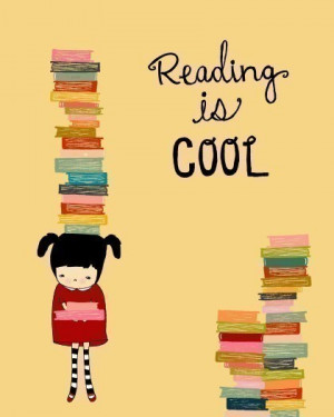 ... quote art, digital illustration, nursery art, reading, books, library