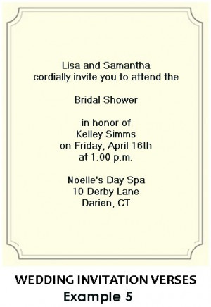 shower invitation wording bridal shower invitation wording and verses ...