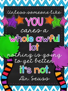 LORAX QUOTE PRINTABLE - TeachersPayTeachers.com