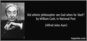 Did atheist philosopher see God when he 'died'? by William Cash, in ...