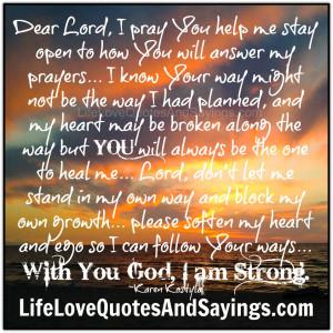 Dear Lord,..