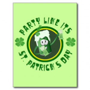 St. Patrick's Day Party Postcard