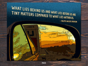Rearview Mirror - Emerson Quote Giclee Art Print - Free Shipping in US ...