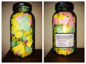 365 notes in a jar
