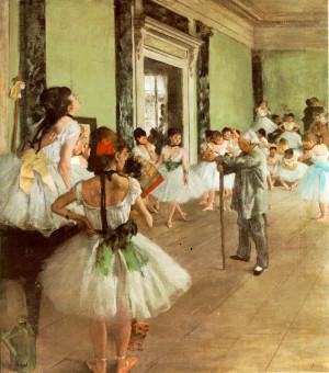 Edgar Degas, La lezione di ballo, 1873/1874. Olio su tela, 85x75 cm ...