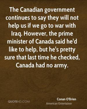 Conan O'Brien War Quotes