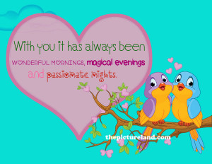 Love Quotes And Sayings With Two Cute Birds