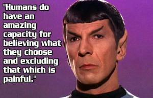 Spock logic.