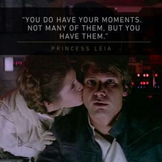 Han Solo and Princess Leia from Star Wars Return Of The Jedi ~ these ...
