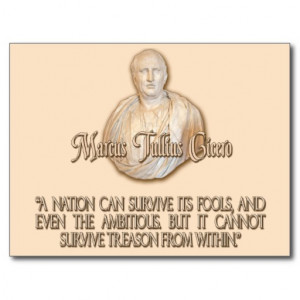 CICERO QUOTE - NATION CANNOT SURVIVE TREASON POST CARDS
