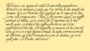 """Excerpt from """" Les Chants de Maldoror """", by Comte de Lautréamont ..."""