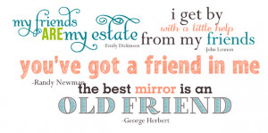 Friendship Quotes and Word Art for Your Scrapbook Layouts